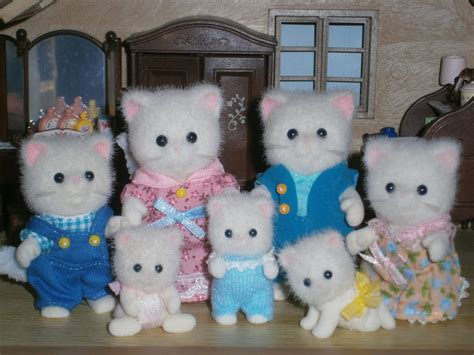 Sylvanian Families Cat Family by The Persis Cat Family Sylvanian Families