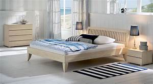 Bett Massivholz Weiß : wei lackiertes massivholzbett costa blanca ~ Indierocktalk.com Haus und Dekorationen