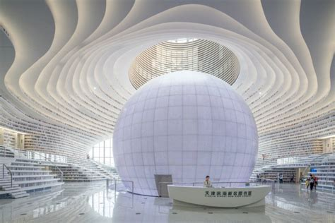 Photos Of The New Futuristic Library In China With 12