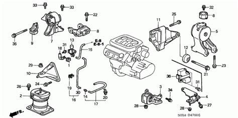 Honda Pilot Engine Diagram Transmission by Transmission Rubber Engine Mounts Honda Odyssey Pilot