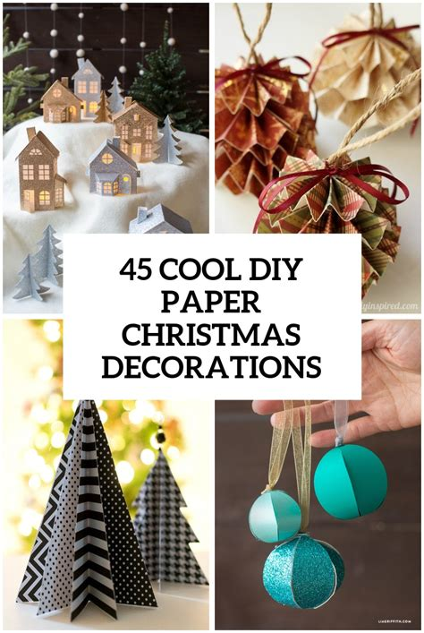 wonderful paper  cardboard diy christmas decorations