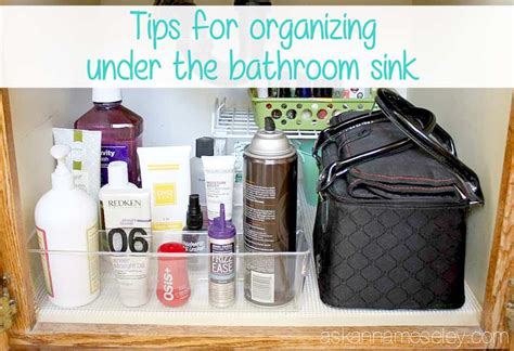 Tips For Organizing Under The Bathroom Sink-ask Anna