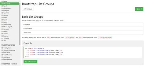 bootstrap list style