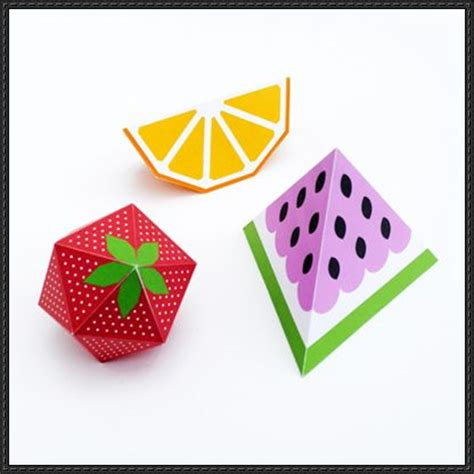 3d templates new paper craft 3d fruit papercrafts free templates on papercraftsquare