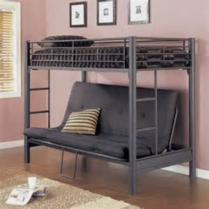 twin over futon metal bunk bed matte black
