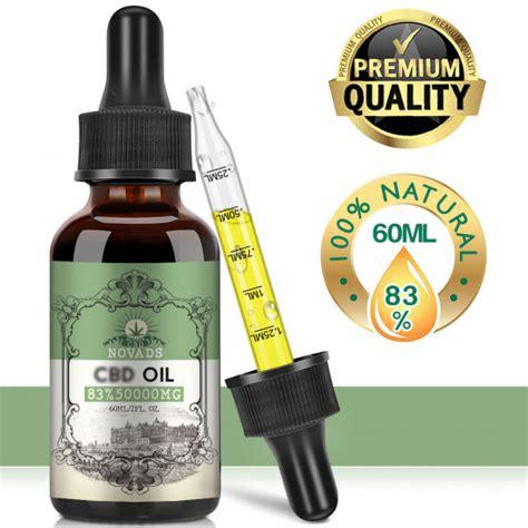 Buy Novads CBD Oil 50000mg 83% 60ml, Broad Spectrum Hemp Extract, Natural CBD Oil for Mood ...