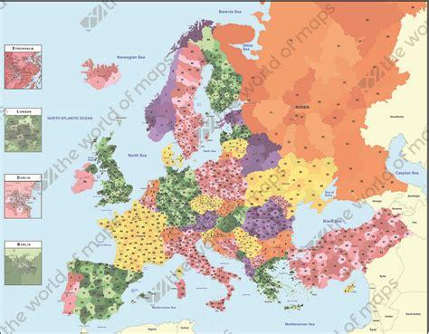 Digital Postcode Map Europe 1381