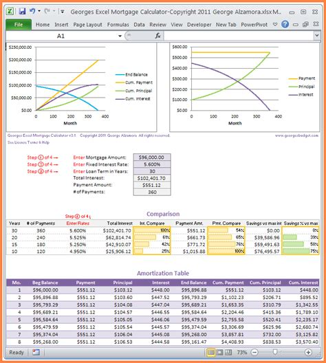 mortgage spreadsheet template excel spreadsheets group