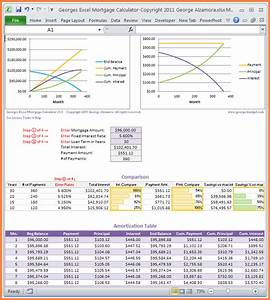Mortgage Amortization Excel 10 Mortgage Spreadsheet Template Excel Spreadsheets Group