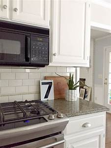 Our White Kitchen Cabinets Granite Emily A Clark