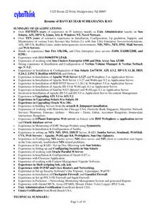 Administration Resume Sle by Systems Administrator Sle Resume 28 Images Network And