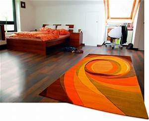 tapis orange et gris idees de decoration interieure With tapis orange et gris