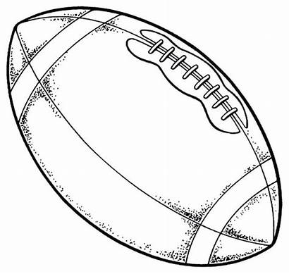 Coloring Football Nfl Pages Drawing Rugby Ball