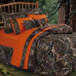 oak camo camouflage rustic comforter bed set