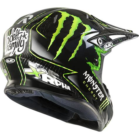 monster helmet motocross hjc r pha x nate adams monster replica off road motocross