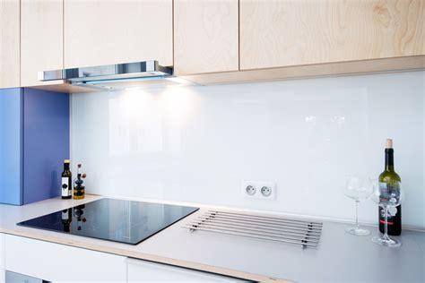 cr 233 dence de cuisine en verre sur mesure