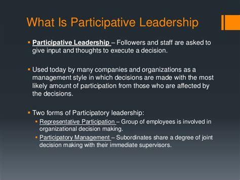 participative leadership theory