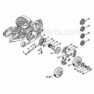 Stihl Ms 261 Chainsaw  Ms261 C  Parts Diagram  Oil Pump