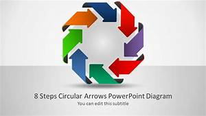 8 Steps Circular Arrows Powerpoint Diagram