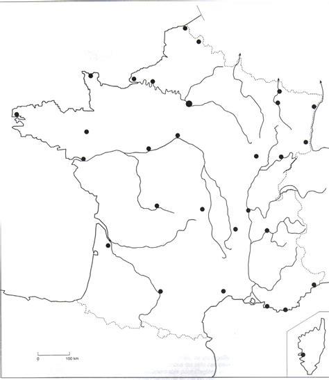Fond De Carte Vierge Villes by La Carte Muette Des Fleuves G 233 Ographie