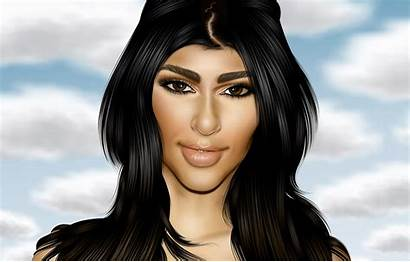 Caricatures Celebrity Caricature Vector Kim Kardashian Deviantart
