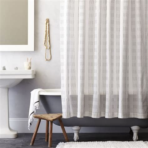 navy and white striped curtains west elm dotted stripe shower curtain slate west elm