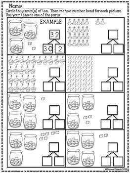 math worksheets 1st grade place value by ocd in