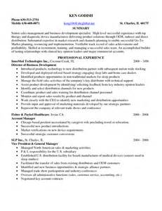 career summary exles for sales it sales resume