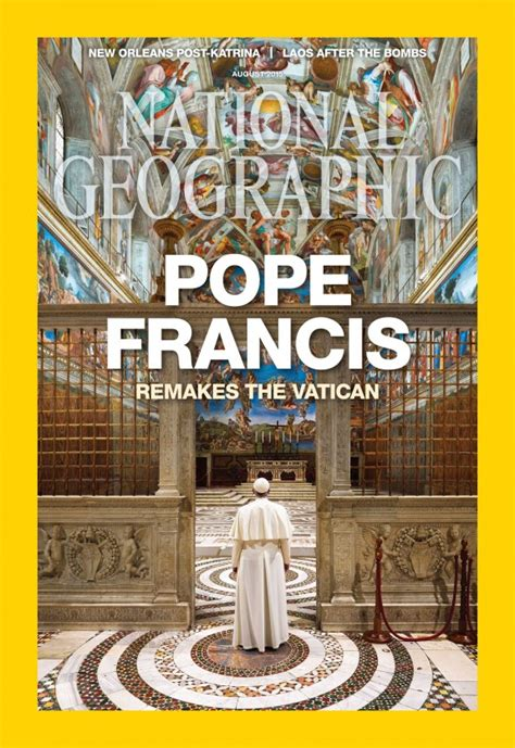 pope francis latest magazine cover national geographic