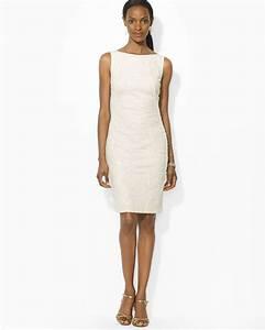 Ralph Lauren Lauren Dress Soutache Matte Jersey in White ...