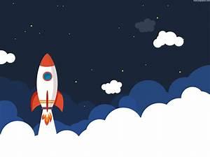 Rocket launch illustration (PSD)