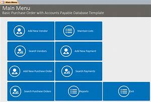 Microsoft Access Quote Database Basic Purchase Order With Accounts Payable Database