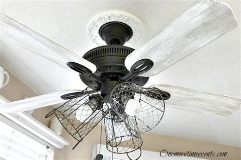 diy shabby chic ceiling fan hometalk 8 budget ceiling fan makeovers