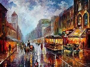 Modern impressionism palette knife oil painting kp15125 ...
