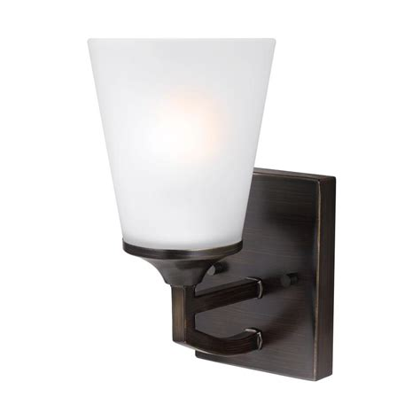 sea gull lighting hanford 1 light burnt wall sconce