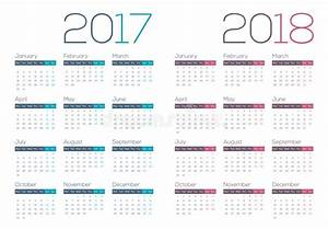 2017 2018 Modernos E Calendário Limpo Do Negócio