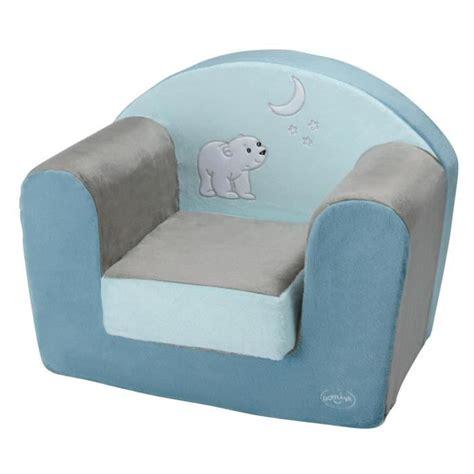 fauteuil chambre bebe domiva fauteuil flocon l 39 ourson bleu et marron bleu et