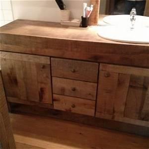agencements verchere realisations With porte d entrée pvc avec meuble salle de bain bois massif double vasque