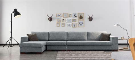 tissu pour canapé d angle canapé d 39 angle en tissu gris a prix usine