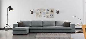 canape d39angle en tissu gris a prix usine With canapé d angle prix usine