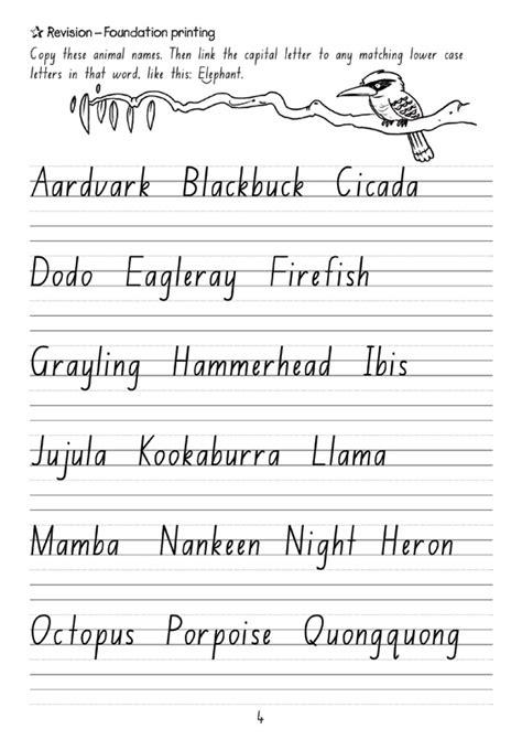 targeting handwriting nsw student book year 4 pascal