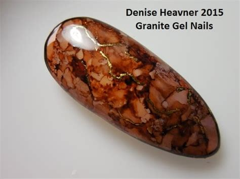 granite marble nails  alcohol ink