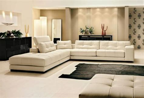 leather livingroom sofa white leather interior design