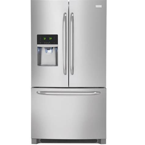 stainless steel door refrigerator shop frigidaire 27 19 cu ft door refrigerator with