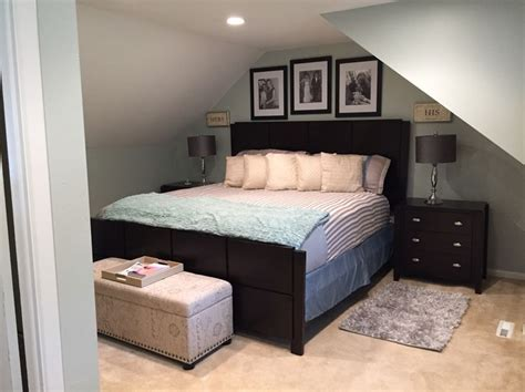 bedroom turned   great wall color  sea salt  sherwin williams master retreat