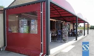 rideau exterieur pour terrasse et pergolas toile With rideau pour terrasse exterieur