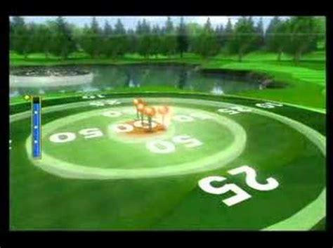 wii sports golf target practice  points youtube