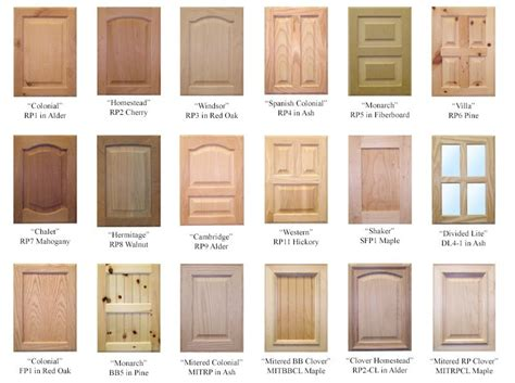 different types of kitchen cabinet doors different types of cabinet doors home building