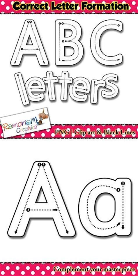 alphabet tracing letters correct letter formation font