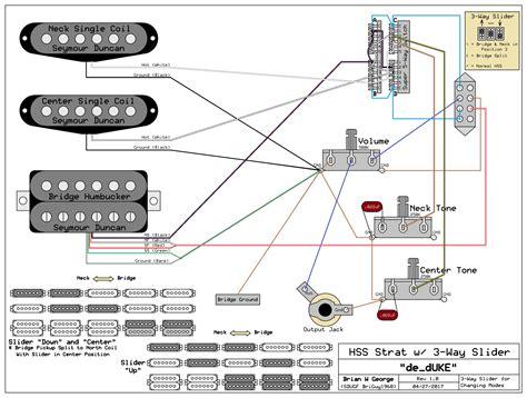 hss strat wiring diagram  coil split    switch
